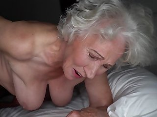 Grey-haired cunt of fat granny gets pounded off out of one's mind young scantling