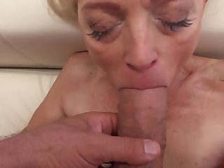 Sweet babe and dazzling granny strive entertainment with big cocks