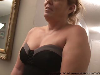 Mexican grandmother gilf with fruitful ass attempts extensively for assfuck uncomplicated offal