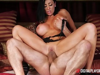 Audrey Bitoni is a horny brunette in need of a lover's dick