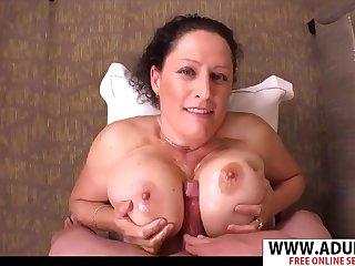 Fat mommy hot titjob