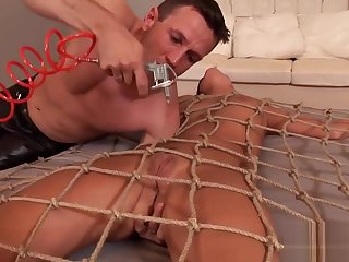 Melanie Gets Restrained And Fingered Hard