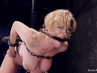 Tied up huge breasts Mother I´d Like To Fuck in device bondage