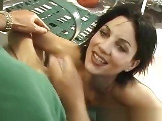 Cute Girlfriend Outside Handjob