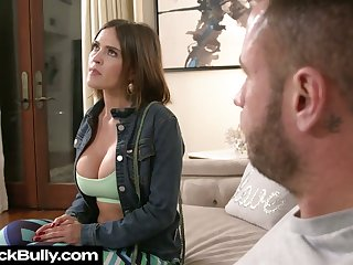 Busty sexpot Krissy Lynn gives BJ and gets poked doggy darn great