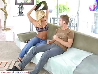 Horny man plays with big boobies and eats wet pussy of Shyla Stylez