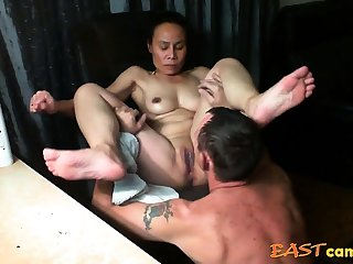 Asian girl get licked untill orgasm