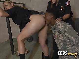 Military dude receives an order to make love