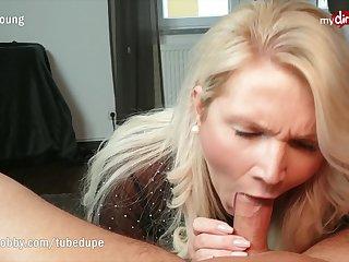 MyDirtyHobby - Busty MILF step-mom deepthroats and facialized