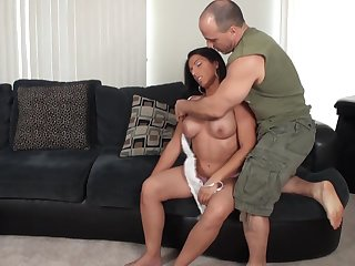 Muscled fit girl Alexis Rain hardcore porn video
