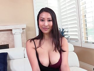 Asian MILF from France Sharon Lee is into riding sloppy cock on top