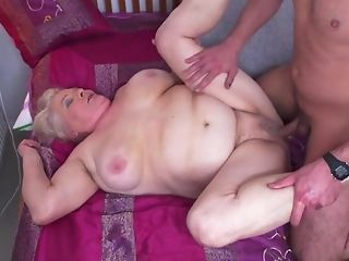 Youthful Gerontophile drills highly phat doyen grandma In Say no to unshaved seize sexvideo
