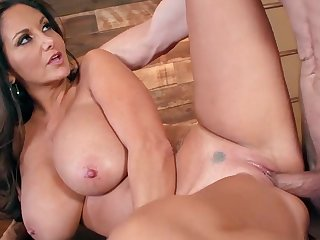 Busty malignant triesa outside younger guy forwards office