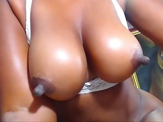 Great Ebony Nipples Lactating And Being Played With