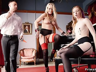 Slave maids punished and trio had intercourse