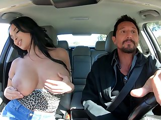 Bosomy alluring raven haired sexpot Anissa Kate rides dick like expert