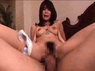 Naty Japanese milf is doing some food fetish