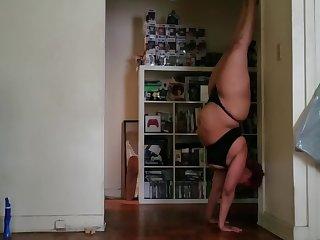 5.23.19 Yoga Practice black lingerie