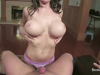 Step-Mom Caught German Step-Son and helps with Knob Blowing