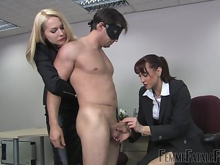 Mistress Eleise de Lacy enjoys hardcore group fuck in the office