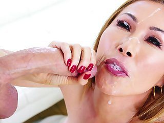 horny dude adores to cum in Kianna Dior's mouth after a blowjob