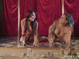 sexy dancer Karmen Karma likes to lick her girlfriend's wet pussy