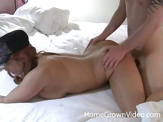 Beautiful busty redhead wife found herself a hot stud to pound her tight fuck hole