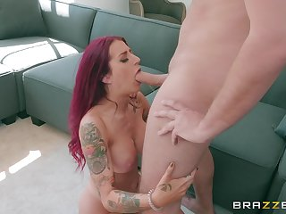 stunning Tana Lea adores doggy style after a blowjob on the floor