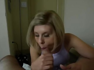 Frustrated MILF stepmother cant my big cock