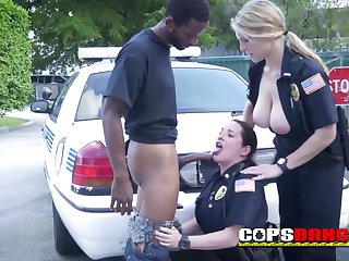Milf buxom cops love to kiss, lick.